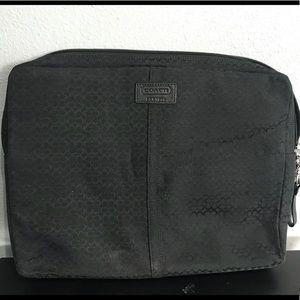 Black Coach Laptop / iPad case